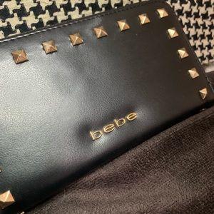 Bebe Black Leather Wallet